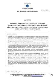 Alueiden komitean lausunto pörssiyhtiöiden hallitusten ... - Kunnat.net