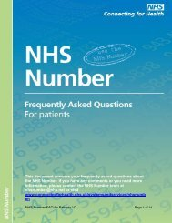 FAQs for patients - Systems