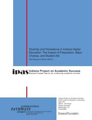 Diversity in Continuous Enrollment: - Indiana University