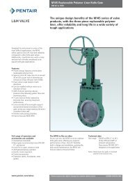 The unique design benefits of the M145 series of valve products ...