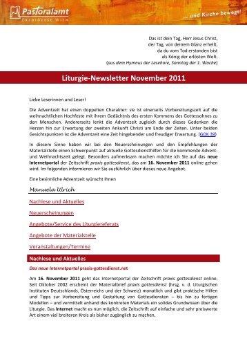 Liturgie-Newsletter November 2011