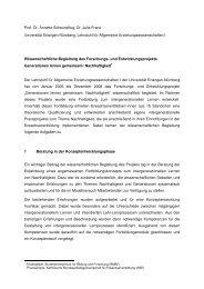 Prof. Dr. Annette Scheunpflug; Dr. Julia Franz Universität Erlangen ...