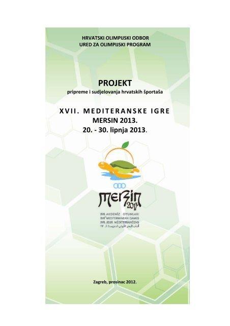 Projekt MI Mersin 2013. - Hrvatski Olimpijski Odbor