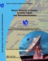 Recent Advances in Circuits, Systems, Signal and - Wseas.us