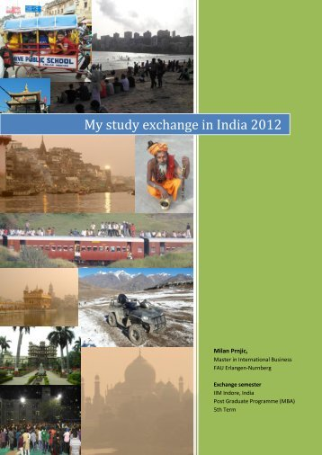My study exchange in India 2012