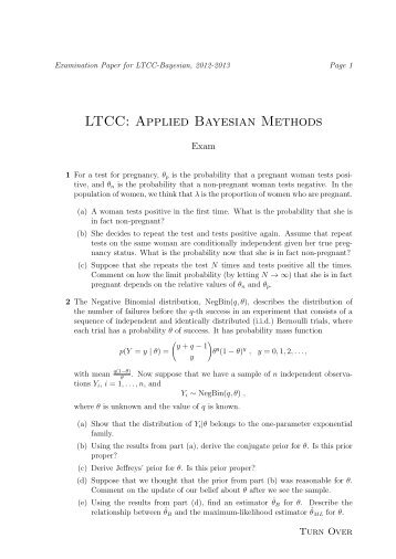 LTCC: Applied Bayesian Methods
