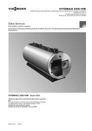 Datos técnicos Vitomax 200-HW M236 - Viessmann