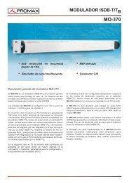 Modulador ISDB-T/Tb - MO-370 - Promax