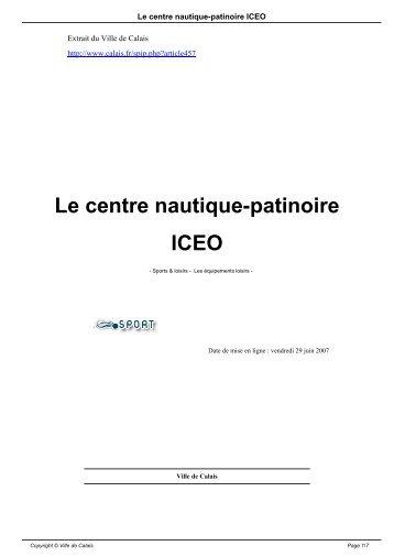 informations sur le centre nautique - patinoire iceo - Ville de Calais