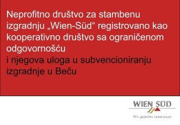 """Neprofitno društvo za stambenu izgradnju """"Wien-Süd"""" registrovano ..."""