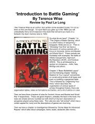 'Introduction to Battle Gaming' book - Lone Warrior Blog