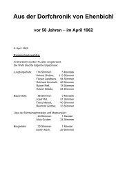 Vor 50 Jahren - Im April 1962 - Ehenbichl