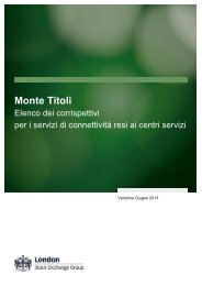 Corrispettivi per i servizi di connettività resi ai Centri ... - Monte Titoli