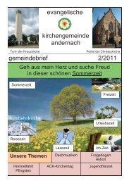 Gemeindebrief 2/2011 - Evangelische Kirche Andernach