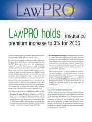 Volume 4, issue 3, 2005 - practicePRO.ca