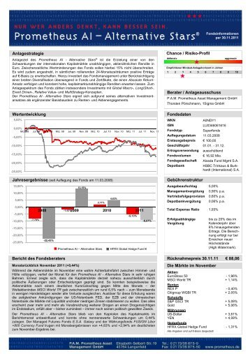 Anlagestrategie Chance / Risiko-Profil ... - Prometheus