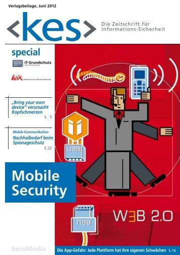 "Special ""Mobile Security"" - IT-Grundschutz"