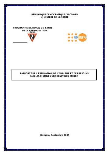 republique democratique du congo - Campaign to End Fistula