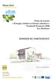 Dossier participant - Paysage et urbanisme durable