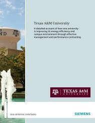 Texas A&M University - Siemens Industry, Inc.