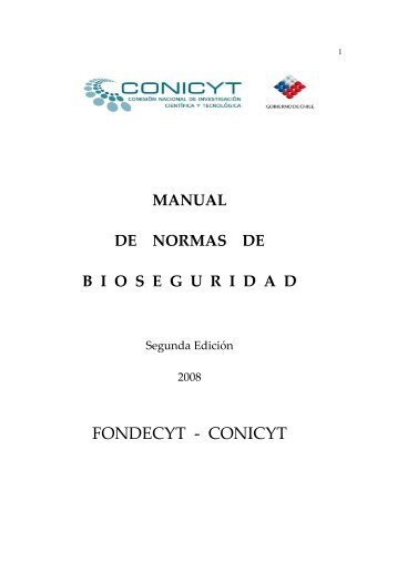 Manual de Normas de Bioseguridad - Conicyt