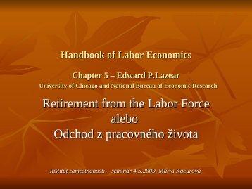 seminar 7 retirement (pdf) - Inštitút zamestnanosti