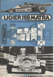 Tamiya Ligier JS9 Matra Manual - Wheelsacademy.info