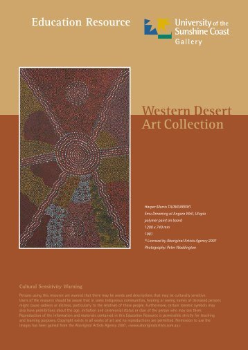 Western Desert Art Collection - University of the Sunshine Coast