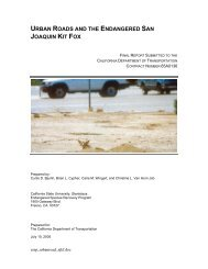Urban Roads and the Endangered San Joaquin Kit Fox