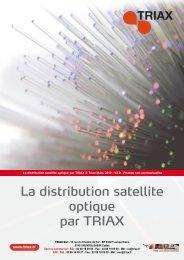 La distribution satellite optique par TRIAX