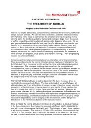 Statement on the Treatment of Animals