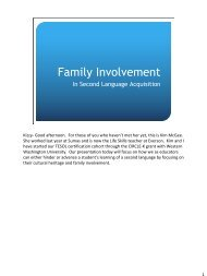 Family Involvement - Woodring College of Education - Western ...