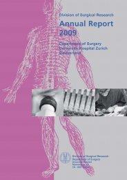 Annual Report 2009 - Klinik für Thoraxchirurgie