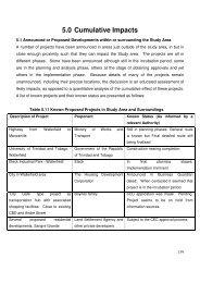 5.0 Cumulative Impacts - Environmental Management Authority