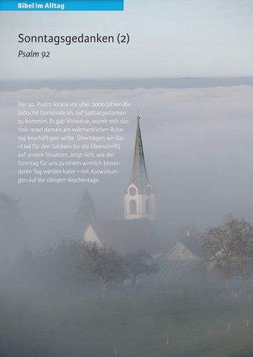 Sonntagsgedanken (2) - Zeit & Schrift
