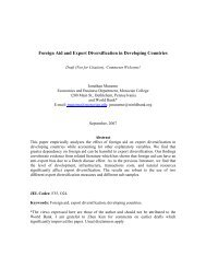 Foreign Aid and Export Diversification in Developing ... - Economics
