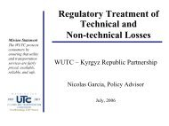Regulatory Treatment of Losses - Narucpartnerships.org