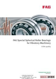 FAG Special Spherical Roller Bearings for Vibratory Machinery X-life ...
