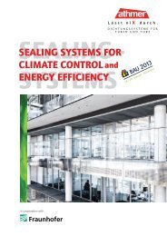 sealing systems for climate control energy efficiency - Athmer