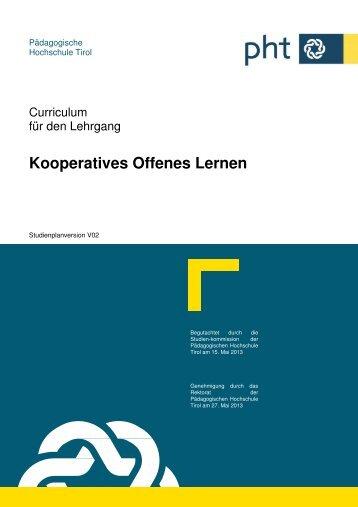 Kooperatives Offenes Lernen - Pädagogische Hochschule Tirol