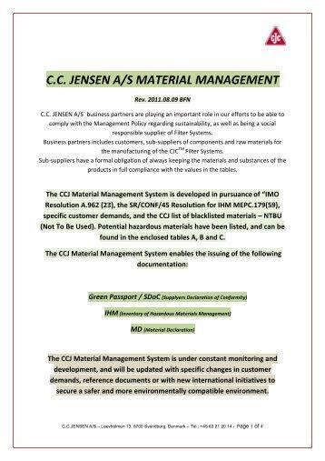 CCJ Material Management - Cjc.dk