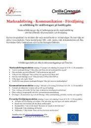 Marknadsföring - Kommunikation - Försäljning