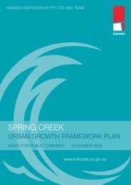 Spring Creek Urban Growth Framework Plan ... - Surf Coast Shire