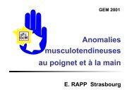 Anomalies musculo-tendineuses main et poignet E ... - ClubOrtho.fr