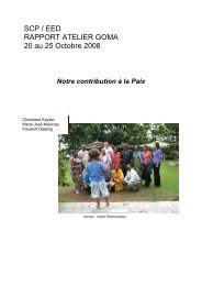 SCP / EED RAPPORT ATELIER GOMA 20 au 25 ... - Peaceworkafrica