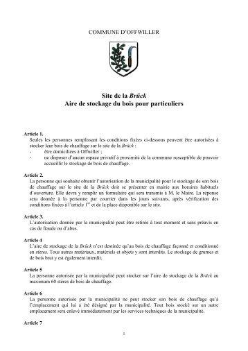 REPUBLIQUE FRANCAISE Offwiller, le