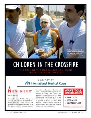 CHILDREN IN THE CROSSFIRE - International Medical Corps