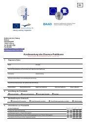 Kurzbewertung des Erasmus-Praktikums