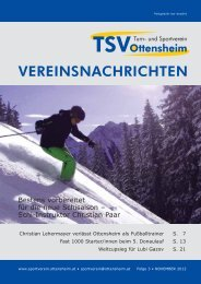 Neue Vereinszeitung online! - und Sportverein Ottensheim
