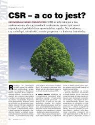 CSR – a co to jest? - Forum Odpowiedzialnego Biznesu